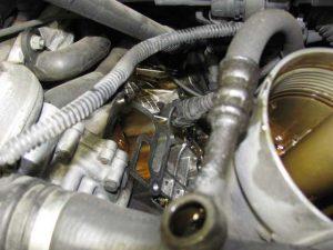 bmwe46オイル漏れ修理