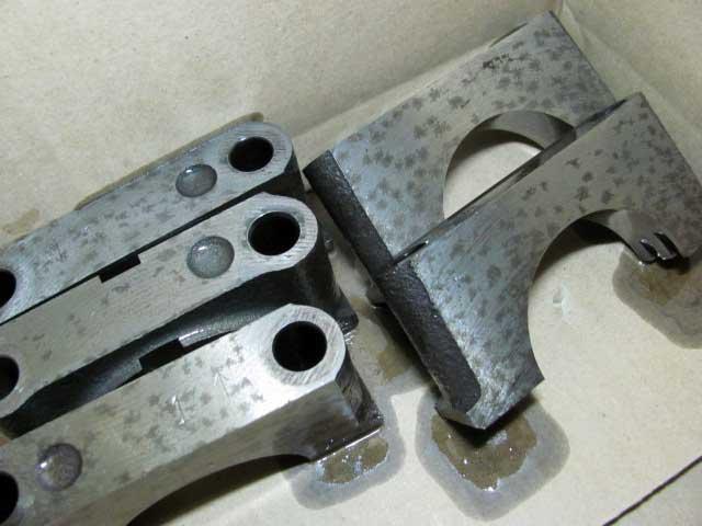 4AG黒ヘッドオーバーホールクランクシャフトキャップ洗浄
