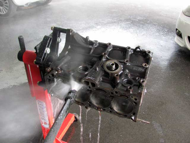 4AG黒ヘッドオーバーホールシリンダーブロック洗浄