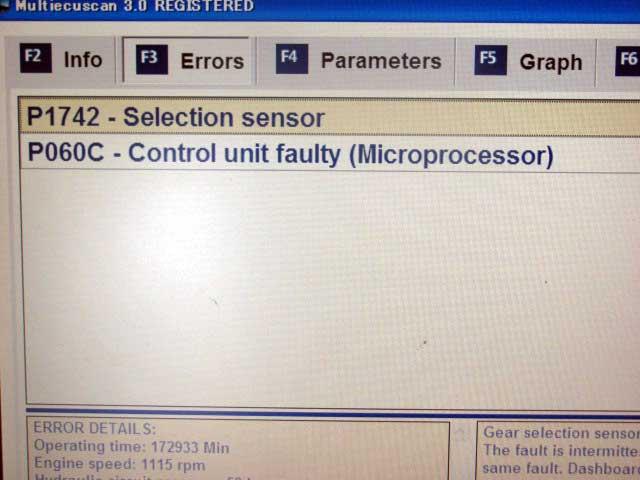 フィアット500デュアロジック修理 診断機