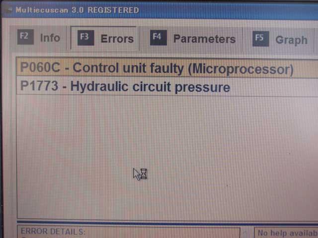 デュアロジック フォルトコード 油圧低下