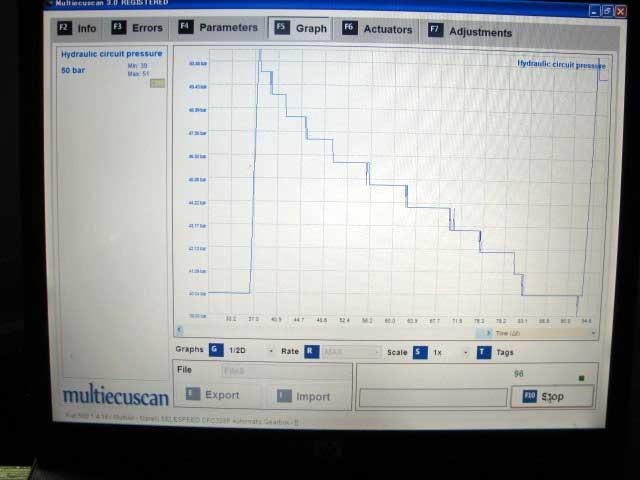 デュアロジック油圧低下アキュムレータ交換